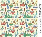 vector colorful illustrration...   Shutterstock .eps vector #599036597