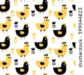 modern seamless pattern with... | Shutterstock .eps vector #599044823