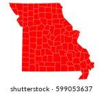 map of missouri   Shutterstock .eps vector #599053637