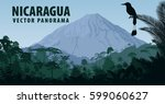 vector panorama of nicaragua... | Shutterstock .eps vector #599060627