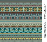 abstract ethnic stripe pattern  ... | Shutterstock .eps vector #599065037