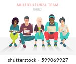 international multicultural...   Shutterstock .eps vector #599069927