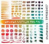 grunge stripes mega set....   Shutterstock .eps vector #599083457