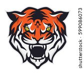 tiger head mascot | Shutterstock .eps vector #599086073