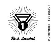 award  badge icon suitable for... | Shutterstock .eps vector #599106977