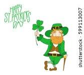 st.patrick's day leprechaun | Shutterstock .eps vector #599113007