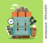 outdoor activities concept....   Shutterstock .eps vector #599114597