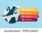 travel to plane banner...   Shutterstock .eps vector #599114603