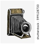Photo Camera Vintage  Engraved...