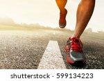man running | Shutterstock . vector #599134223