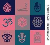 zen icons set | Shutterstock .eps vector #599138873