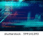 programming code abstract... | Shutterstock . vector #599141393
