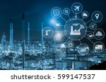 industry 4.0 concept  smart... | Shutterstock . vector #599147537
