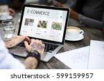 e commerce online shopping... | Shutterstock . vector #599159957