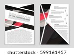 abstract vector layout... | Shutterstock .eps vector #599161457