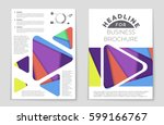 abstract vector layout... | Shutterstock .eps vector #599166767