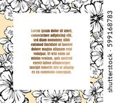 invitation with floral... | Shutterstock .eps vector #599168783