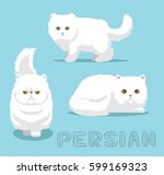 cat persian cartoon vector... | Shutterstock .eps vector #599169323