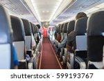 passenger seat  interior of... | Shutterstock . vector #599193767