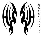 vector tribal tattoo designs.... | Shutterstock .eps vector #599203067