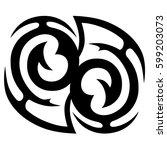 vector tribal tattoo designs.... | Shutterstock .eps vector #599203073