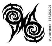 tattoo tribal vector designs... | Shutterstock .eps vector #599203103