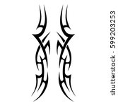 tribal tattoo art designs.... | Shutterstock .eps vector #599203253