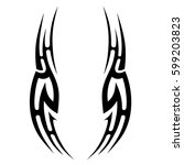 vector tribal tattoo designs.... | Shutterstock .eps vector #599203823