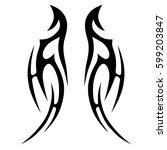vector tribal tattoo designs.... | Shutterstock .eps vector #599203847