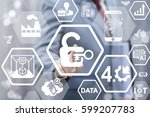 security iot ai computing... | Shutterstock . vector #599207783