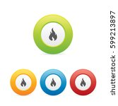 colorful fire or flame icons | Shutterstock .eps vector #599213897