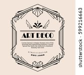 art deco vintage border vector... | Shutterstock .eps vector #599216663