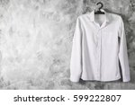 white shirt with long sleeves... | Shutterstock . vector #599222807