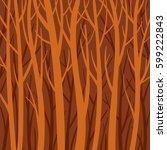 deep forest vector flat | Shutterstock .eps vector #599222843