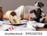closeup new yellow baby... | Shutterstock . vector #599230703