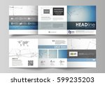 business templates for tri fold ... | Shutterstock .eps vector #599235203