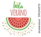 lettering summer design element ... | Shutterstock .eps vector #599243573