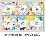 set of creative card template... | Shutterstock .eps vector #599251037