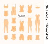 collection of female corrective ... | Shutterstock .eps vector #599254787