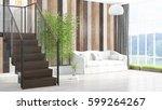 modern bright interior . 3d... | Shutterstock . vector #599264267