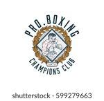 vector illustration of boxer... | Shutterstock .eps vector #599279663