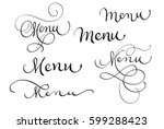set of word menu on white....