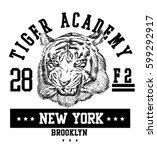 vector retro tiger mascot...   Shutterstock .eps vector #599292917