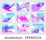 business brochure design ... | Shutterstock .eps vector #599303153