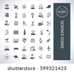 science icon set clean vector | Shutterstock .eps vector #599321423