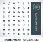 health care icon set clean... | Shutterstock .eps vector #599321633
