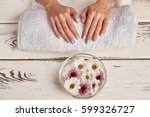 spa treatments for hands.... | Shutterstock . vector #599326727