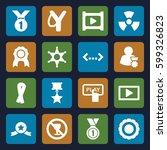 badge icons set. set of 16...   Shutterstock .eps vector #599326823