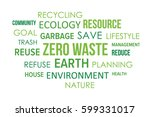 zero waste community tag cloud  ... | Shutterstock .eps vector #599331017