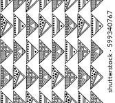 seamless vector pattern. black... | Shutterstock .eps vector #599340767